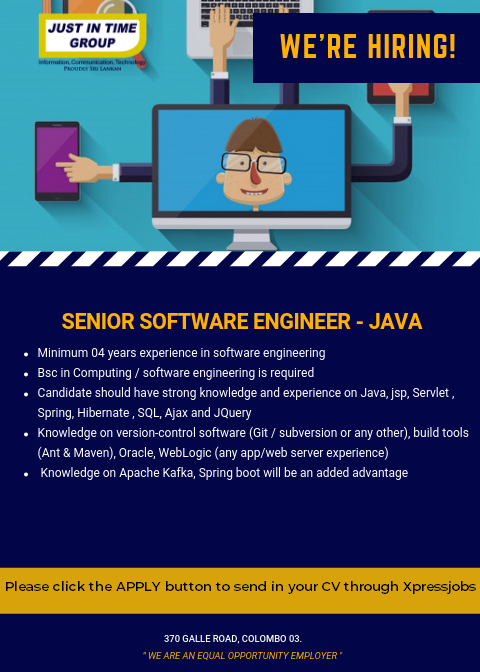 Senior Software Engineers - JAVA - Just In Time Group