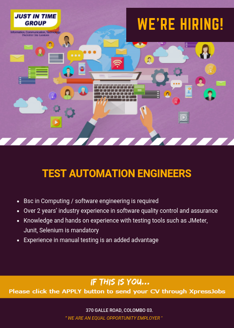 Test Automation Engineers - Just In Time Group | XpressJobs