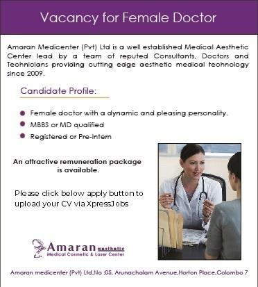 Medical Doctor (Female) - Amaran Aesthetic Medical Cosmetic