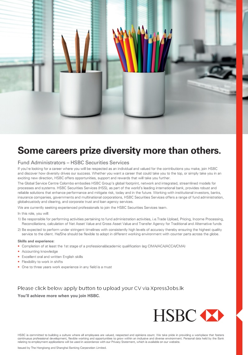 Fund Administrators – HSBC Securities Services - HSBC Bank | XpressJobs